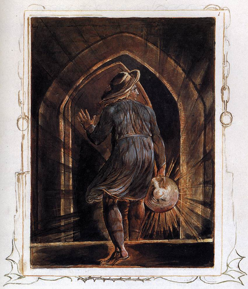 William Blake: Los Entering the Grave, 1820. Public Domain.