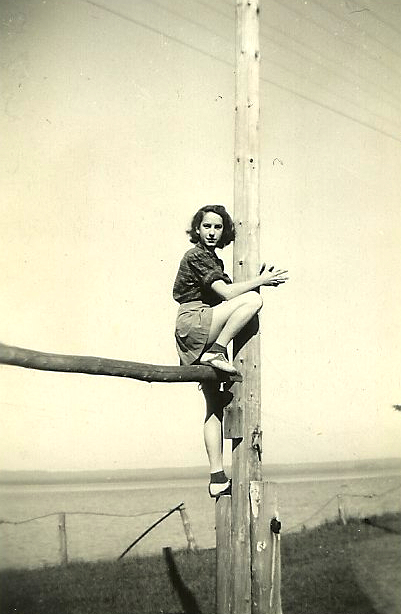 My adventurous grandmother, Eleanor Darou, before she was married.