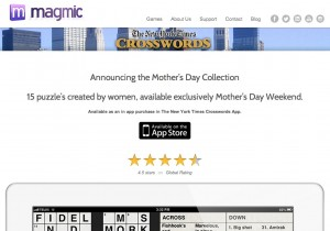 The landing page for the NYT Crossword app's Mother's Day Collection